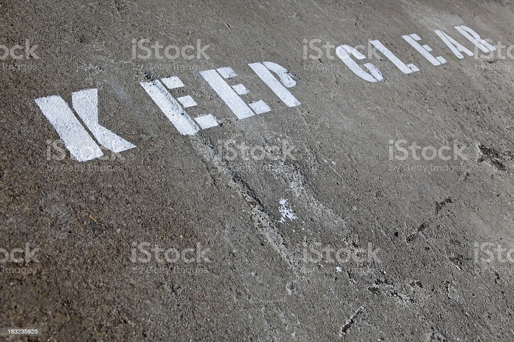 Sign,Keep Clear stock photo