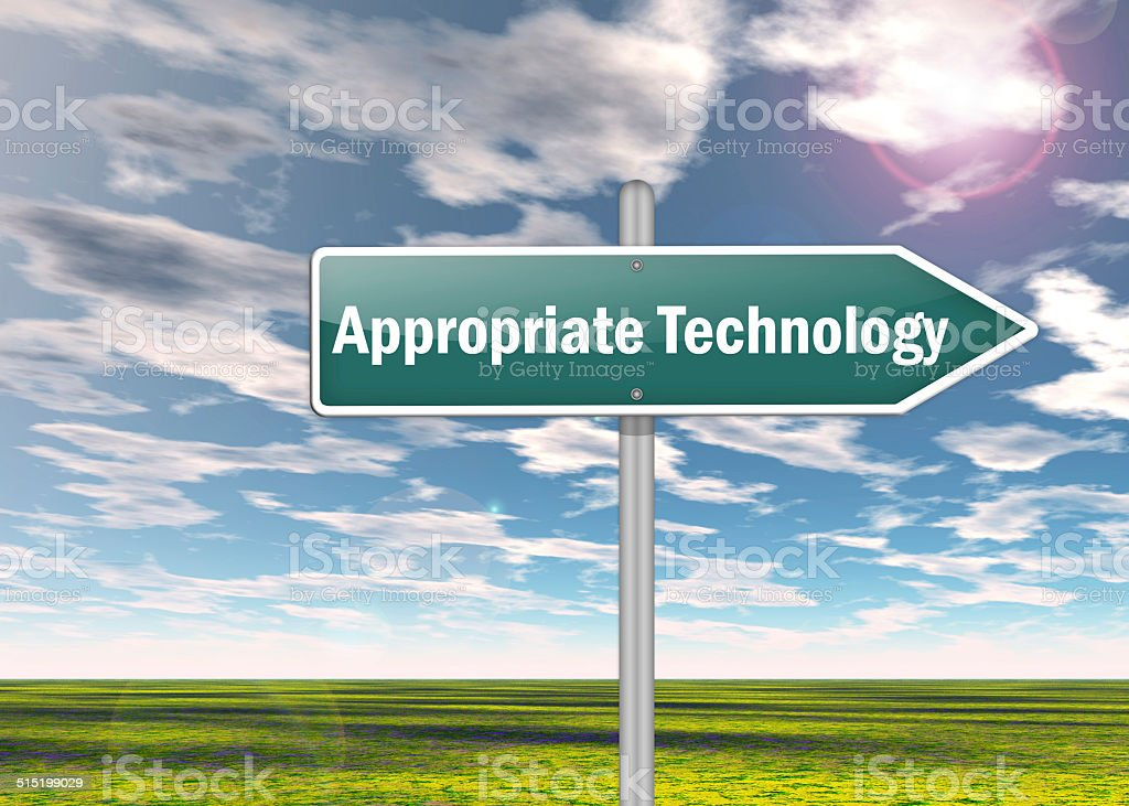 Signpost Appropriate Technology stock photo