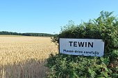 Signpost for the village of Tewin, Hertfordshire