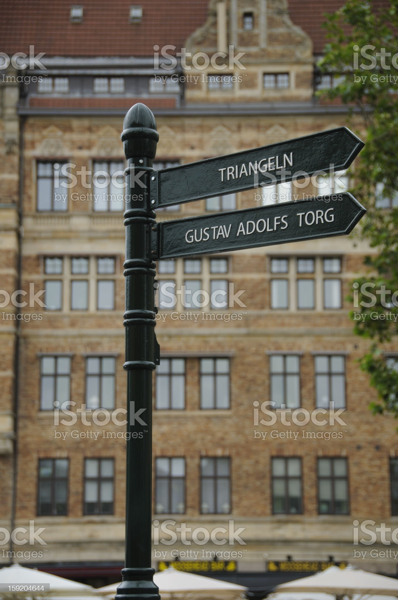 Signpost in Malmo, Sweden royalty-free stock photo
