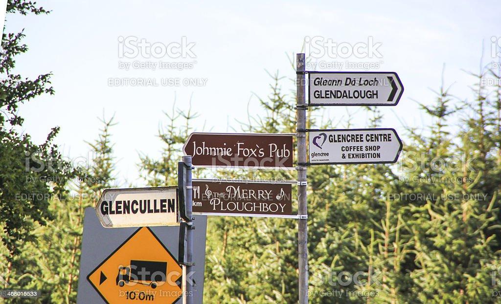 Signpost, Ireland stock photo