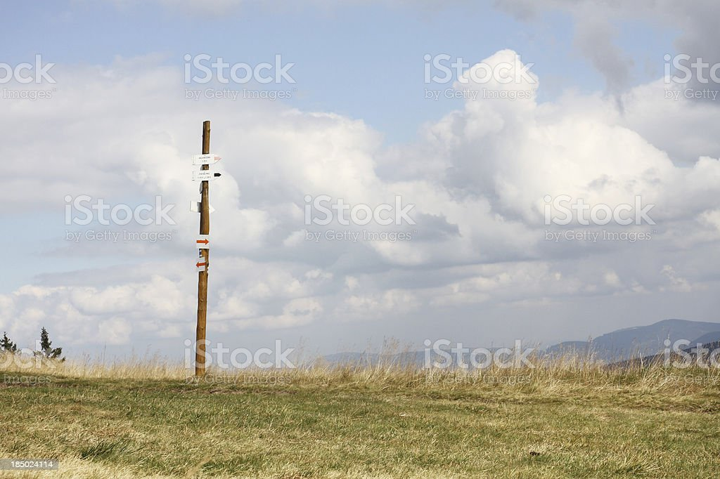 signpost on the top royalty-free stock photo
