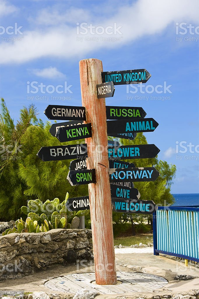 Signpost royalty-free stock photo