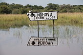 Signpost to NDHOVU Safari Lodge
