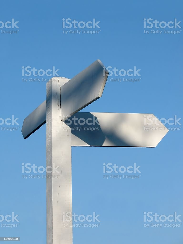Signpost to Nowhere stock photo