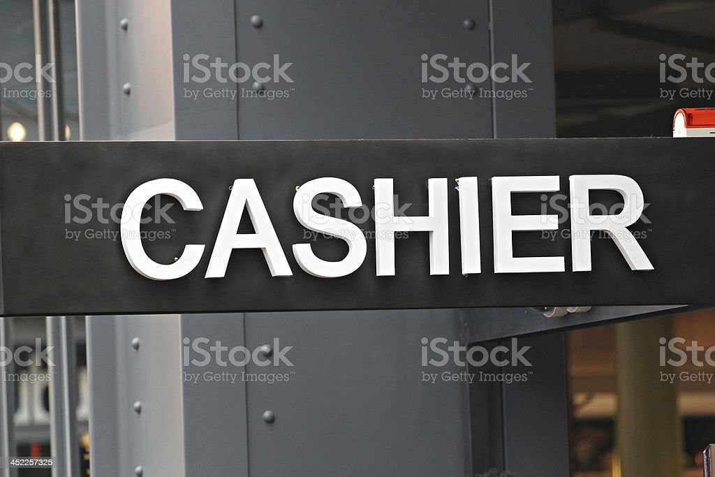 Signposted of the cashier. royalty-free stock photo