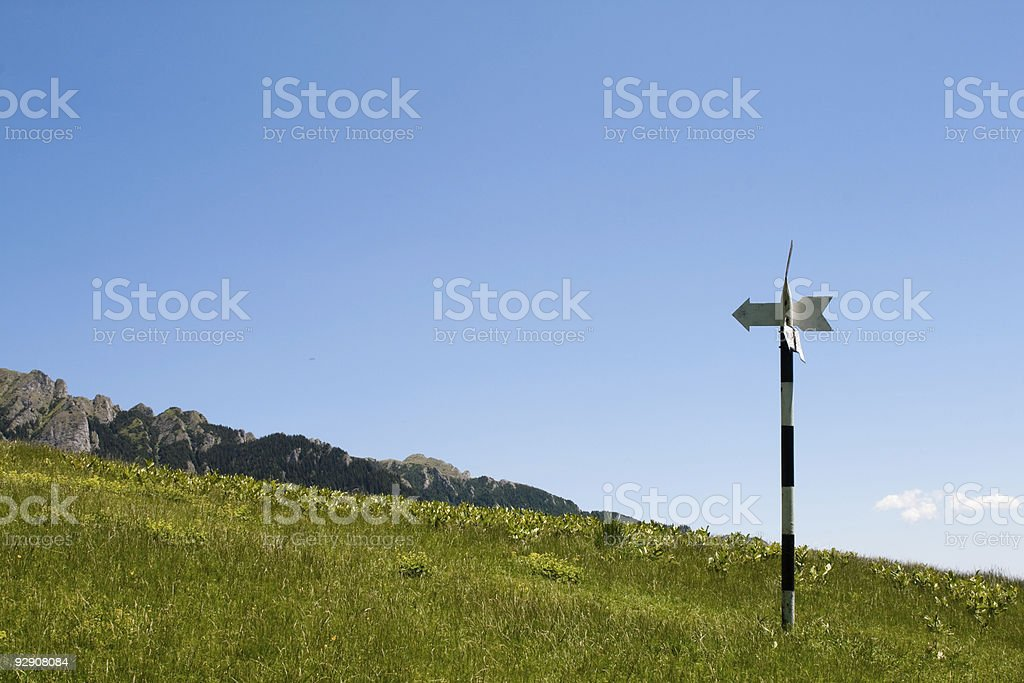 Signposts in the romanian mountains royalty-free stock photo