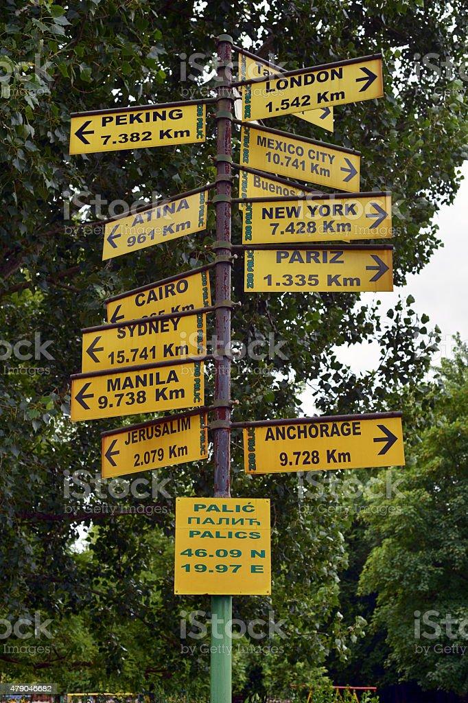 Signposts stock photo