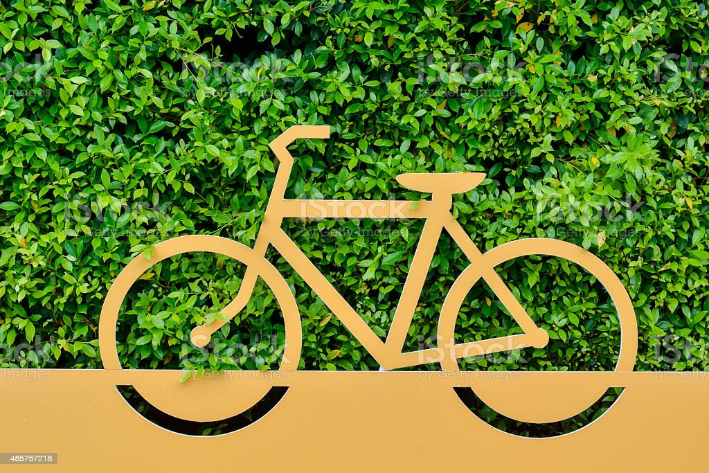 Signs bicycle parking stock photo