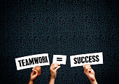 Signs claim 'Teamwork = Success'. It's true!