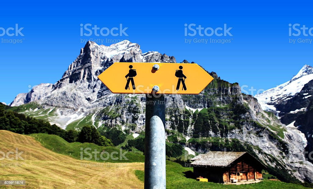 signs for walkers stock photo
