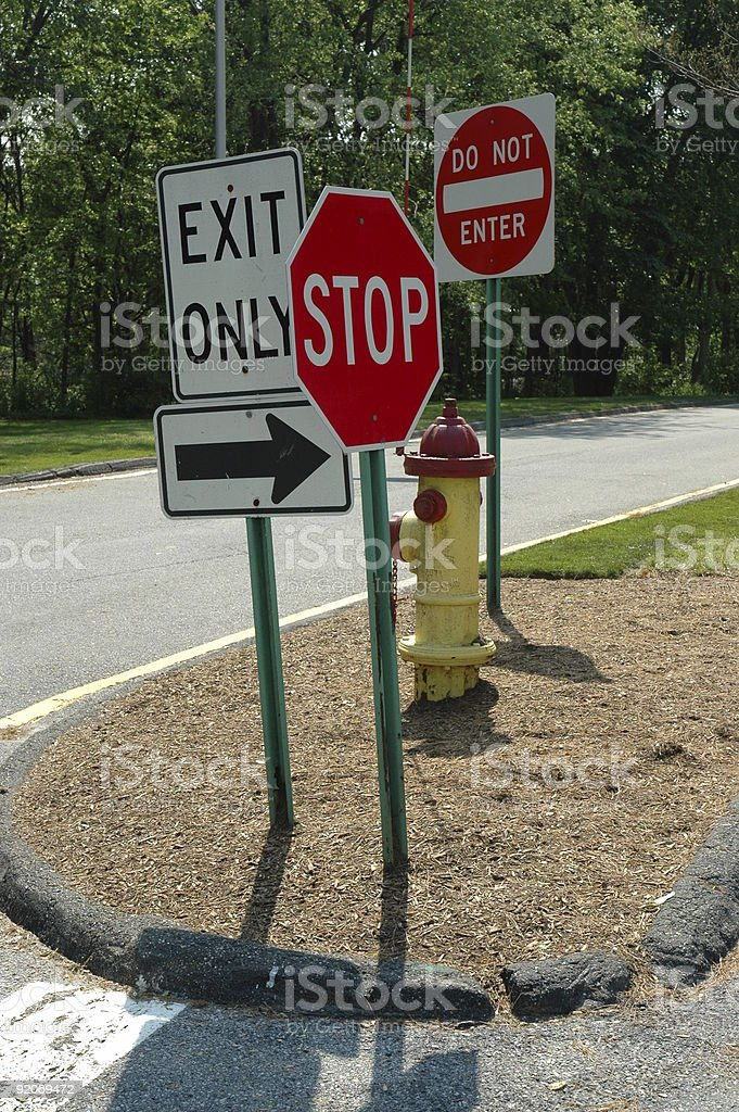 Signs gallore royalty-free stock photo