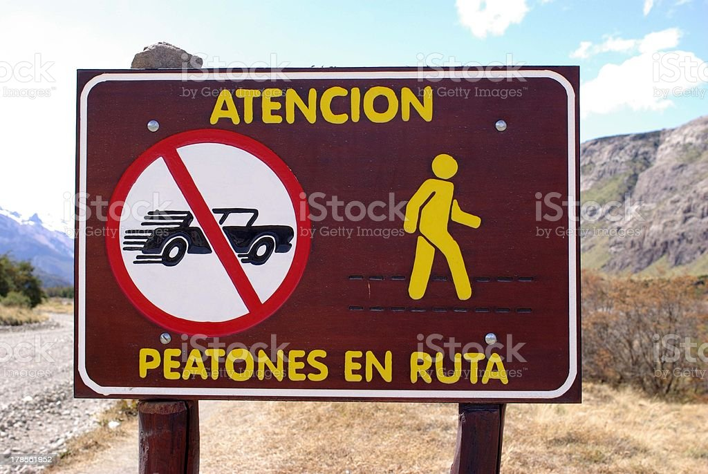 Signs in Argentina royalty-free stock photo