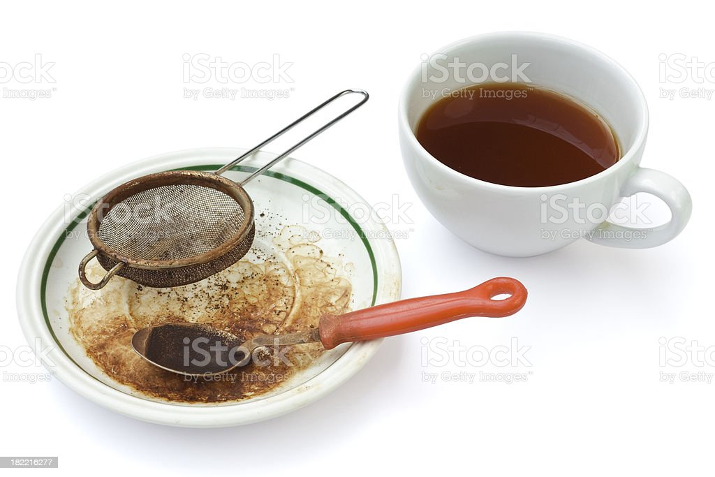 Signs of a serious tea drinker stock photo
