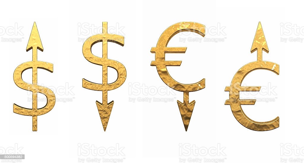 Signs of currencies stock photo