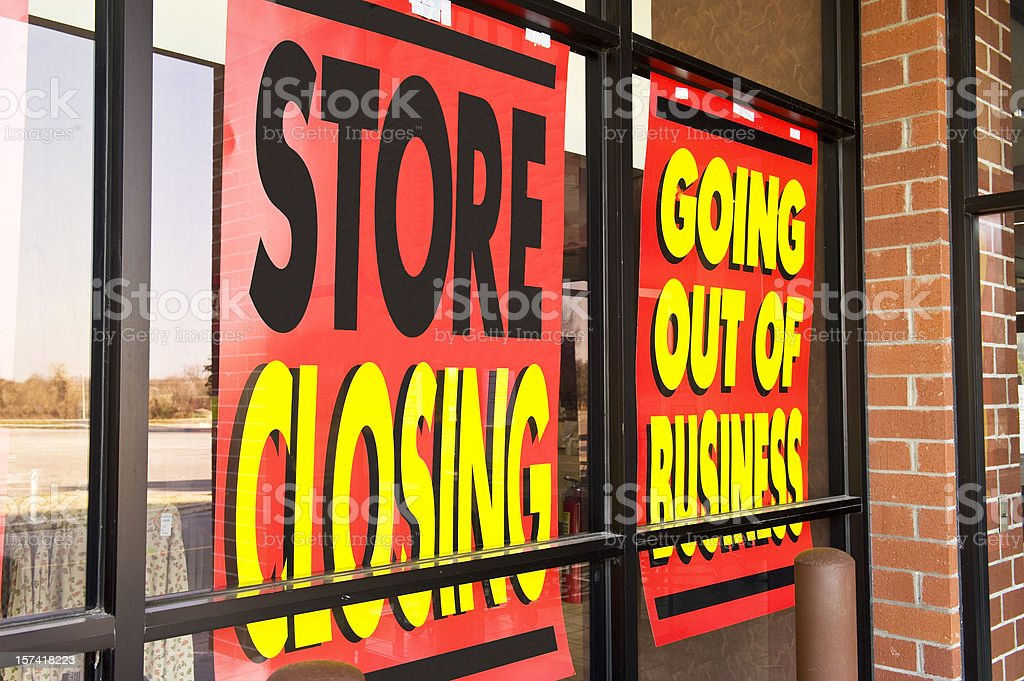Signs of the Recession royalty-free stock photo