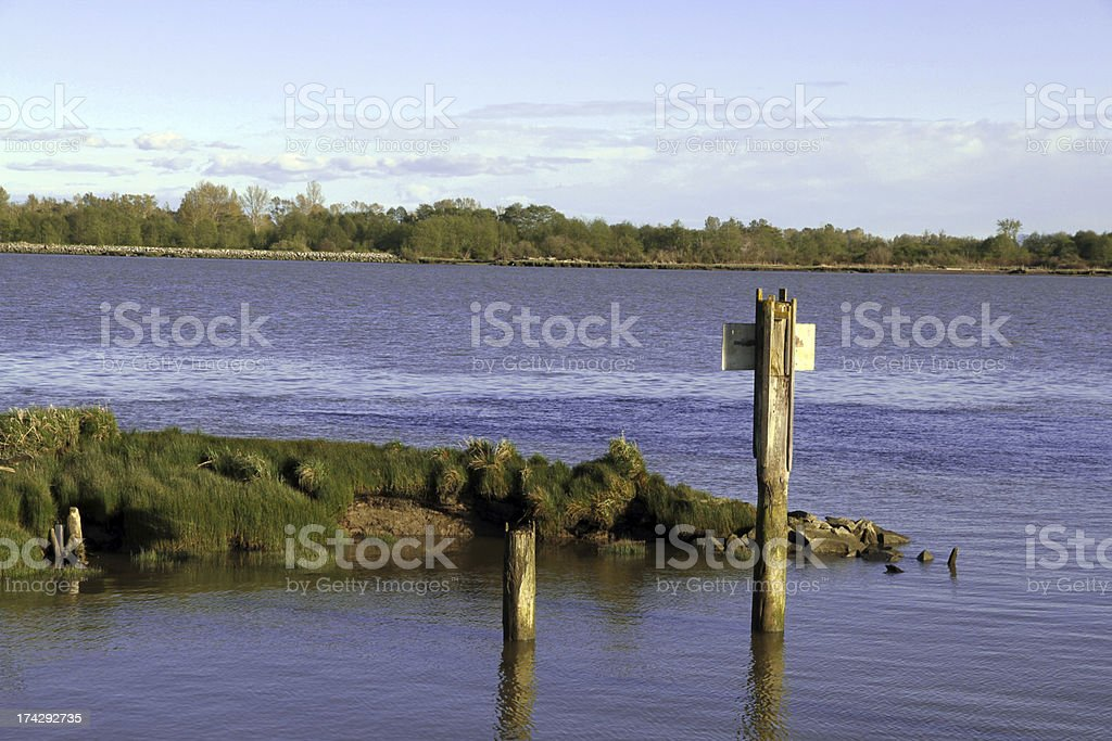 Signs of the River royalty-free stock photo
