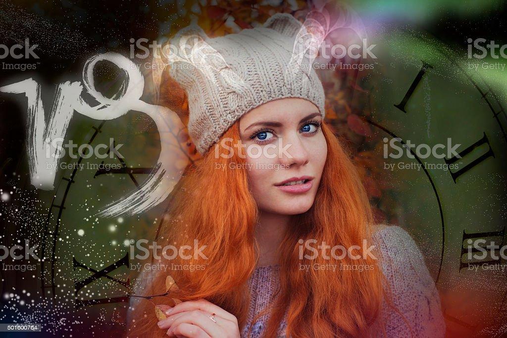 Signs of the zodiac, Capricorn stock photo