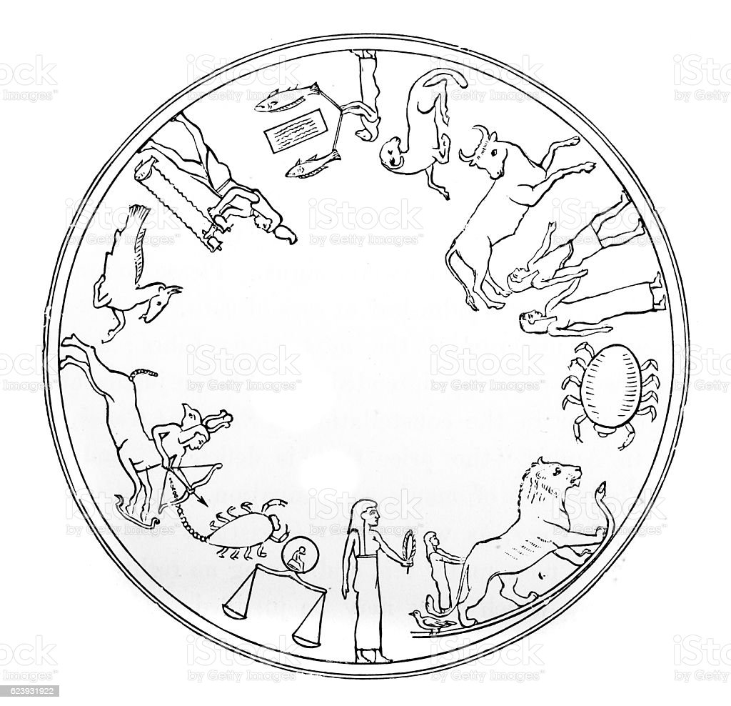 Signs of the Zodiac stock photo