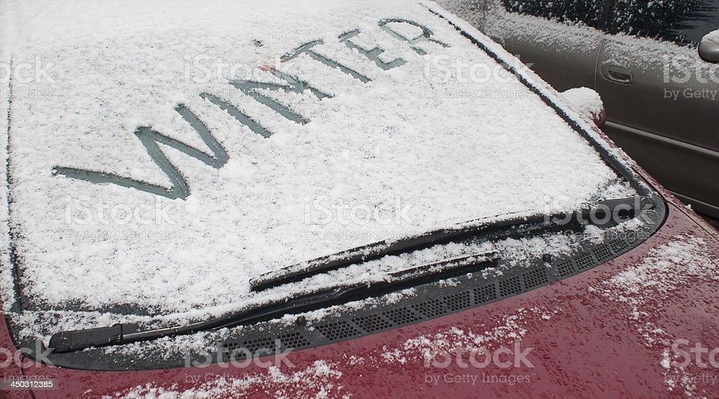 Signs of Winter stock photo