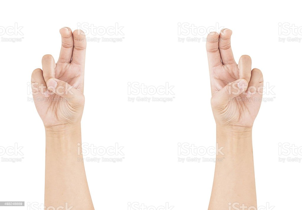 signs quotation marks by fingers stock photo