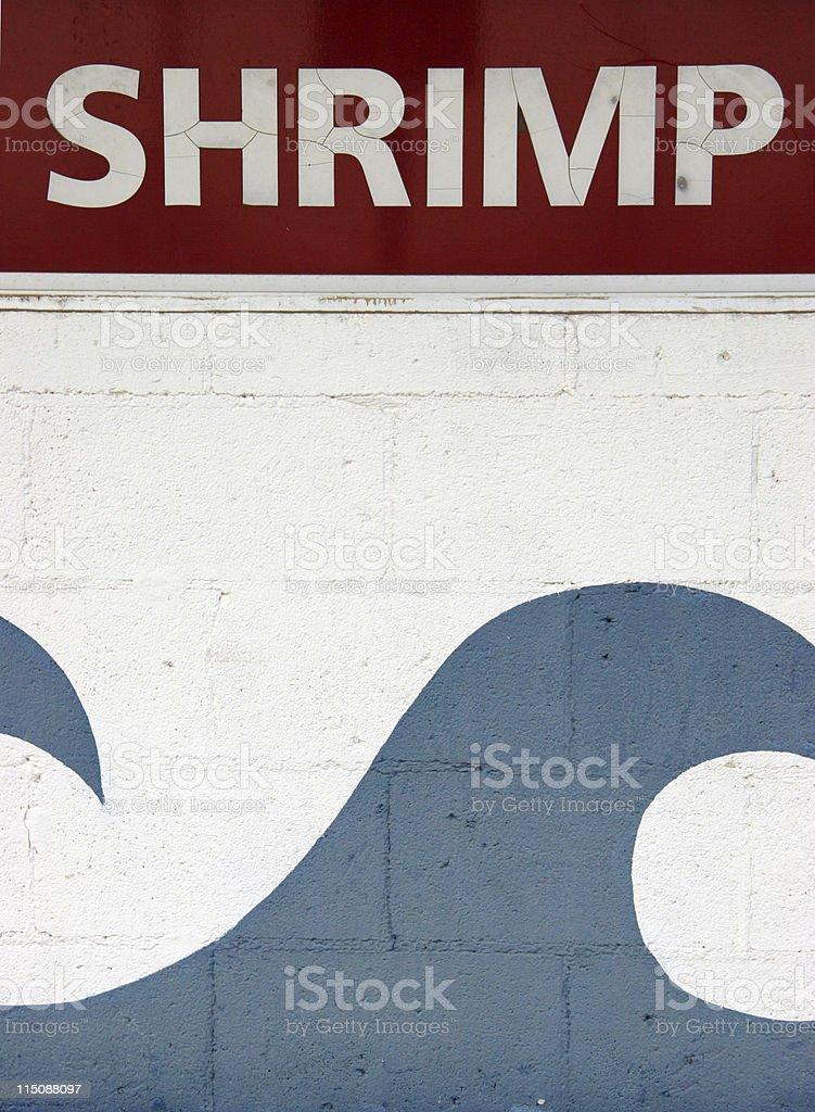 signs - shrimp royalty-free stock photo