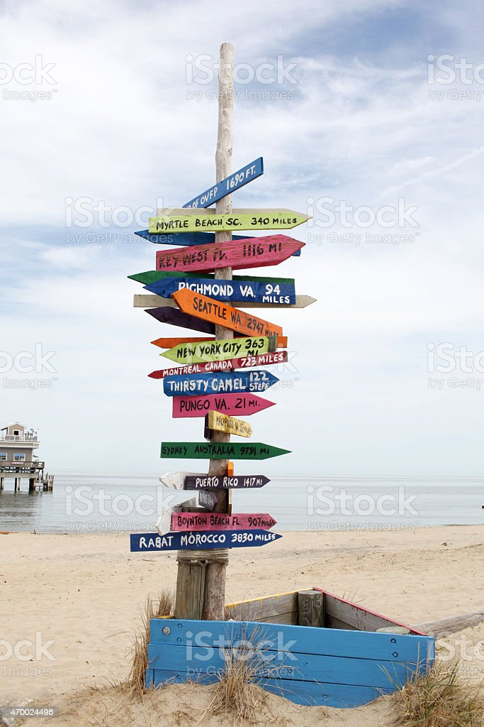Signs to somewhere. stock photo