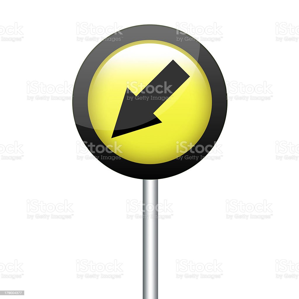 Signs turn left. royalty-free stock photo