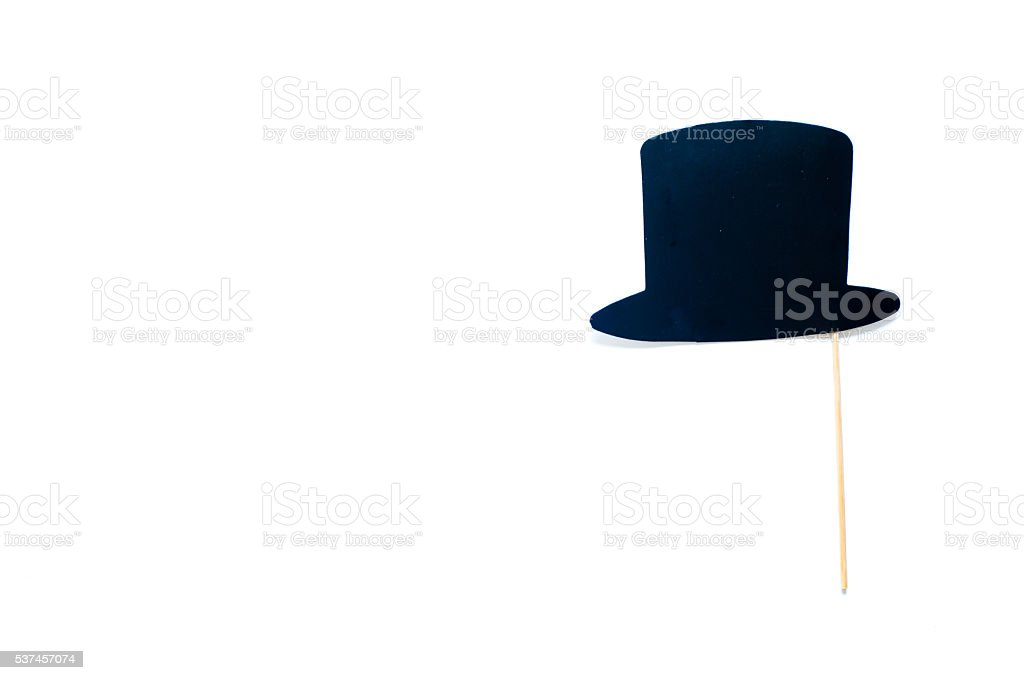 sign-shaped hat on white background stock photo