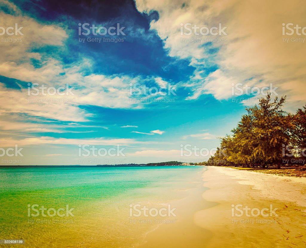 Sihanoukville beach, Cambodia stock photo