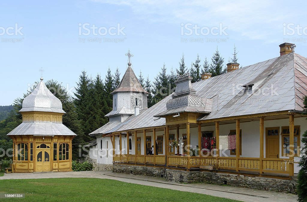 Sihastria Monastery stock photo
