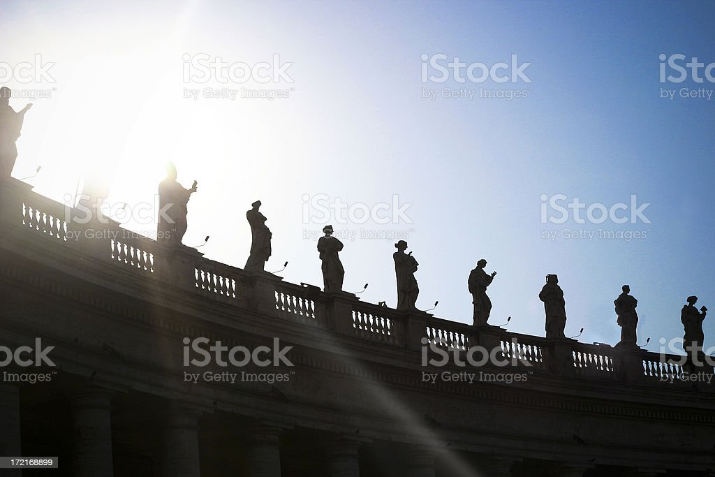 Sihlouetted Historic Figures royalty-free stock photo