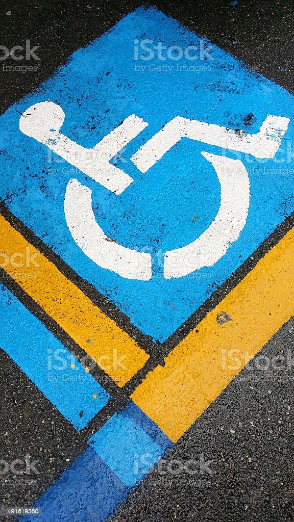 Siignal handicap on asphalt royalty-free stock photo