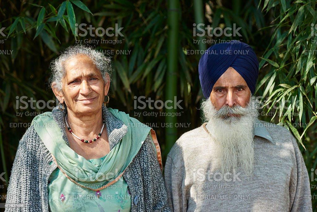 Sikh Couple stock photo