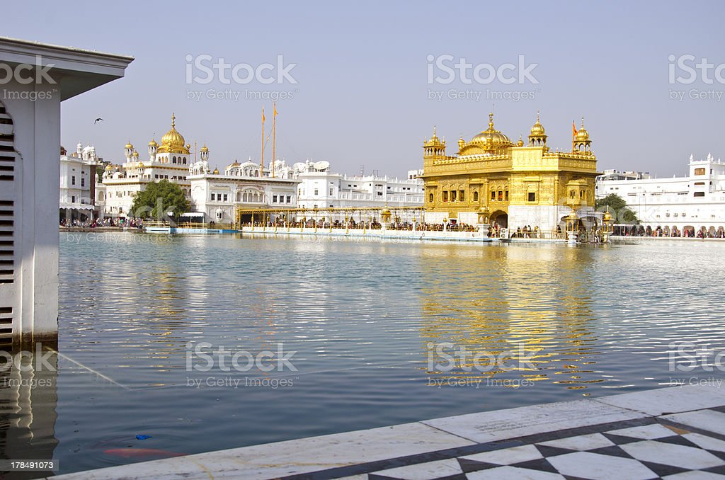 sikh Golden temple in Amritsar, India royalty-free stock photo