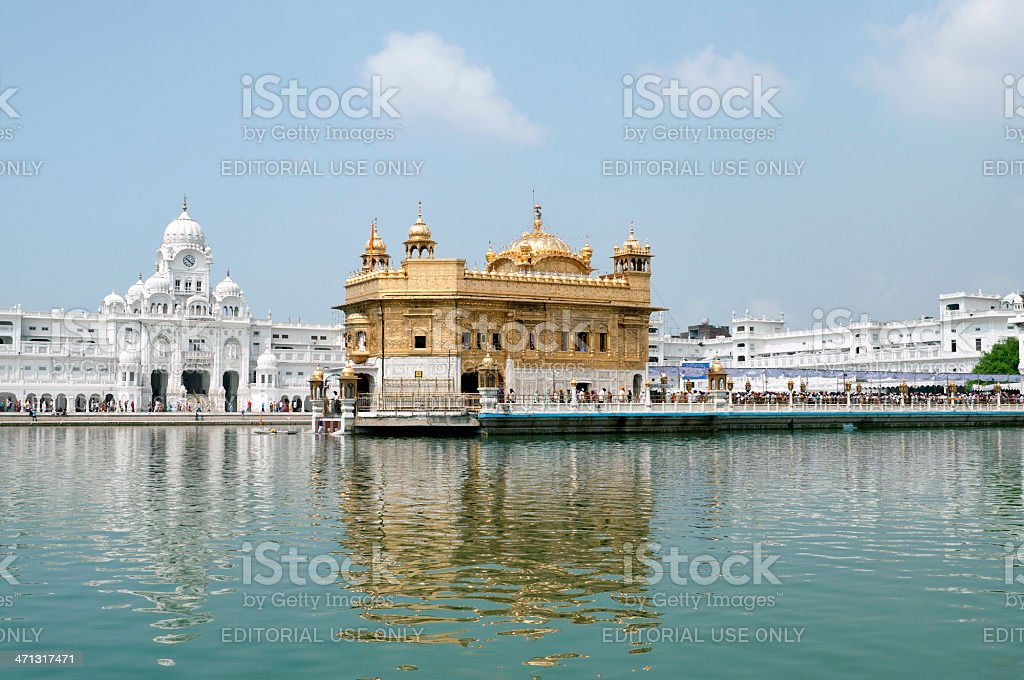 Sikh Golden Temple in Amritsar India royalty-free stock photo