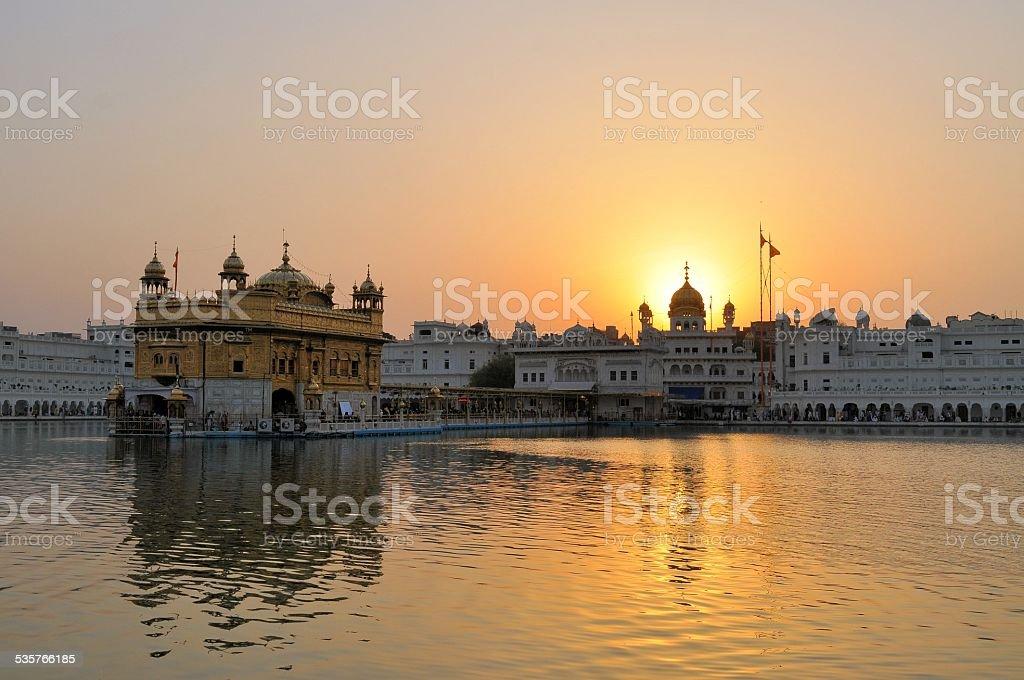 Sikh holy Golden Temple in Amritsar, Punjab, India stock photo