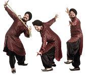 Sikh man dancing
