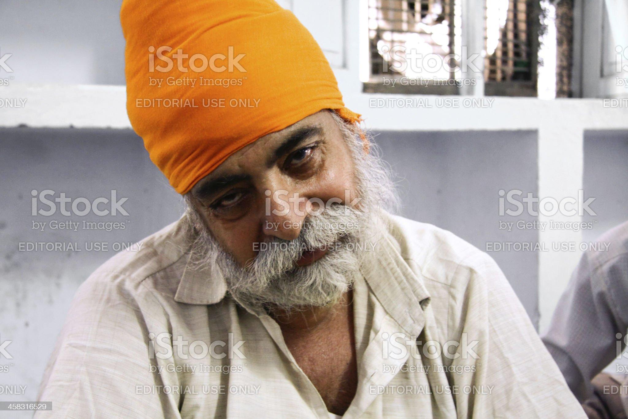 sikh man royalty-free stock photo