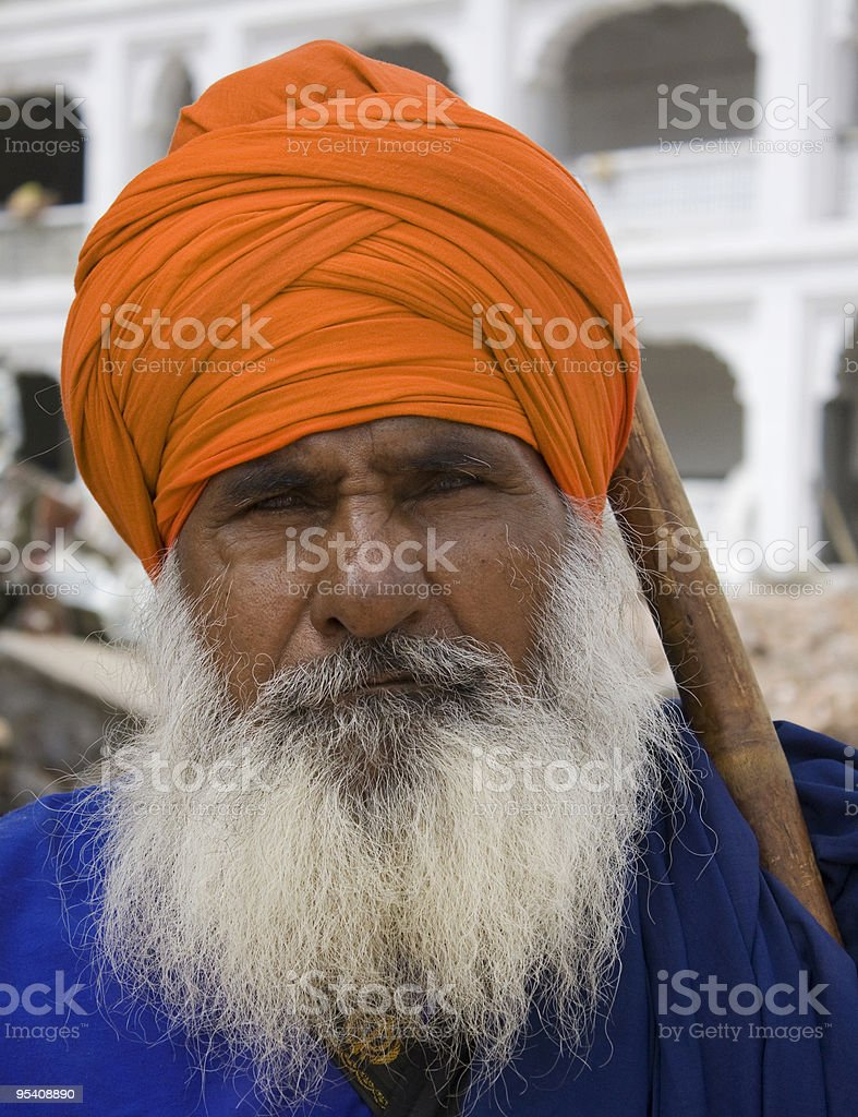 Sikh Man's Portrait royalty-free stock photo