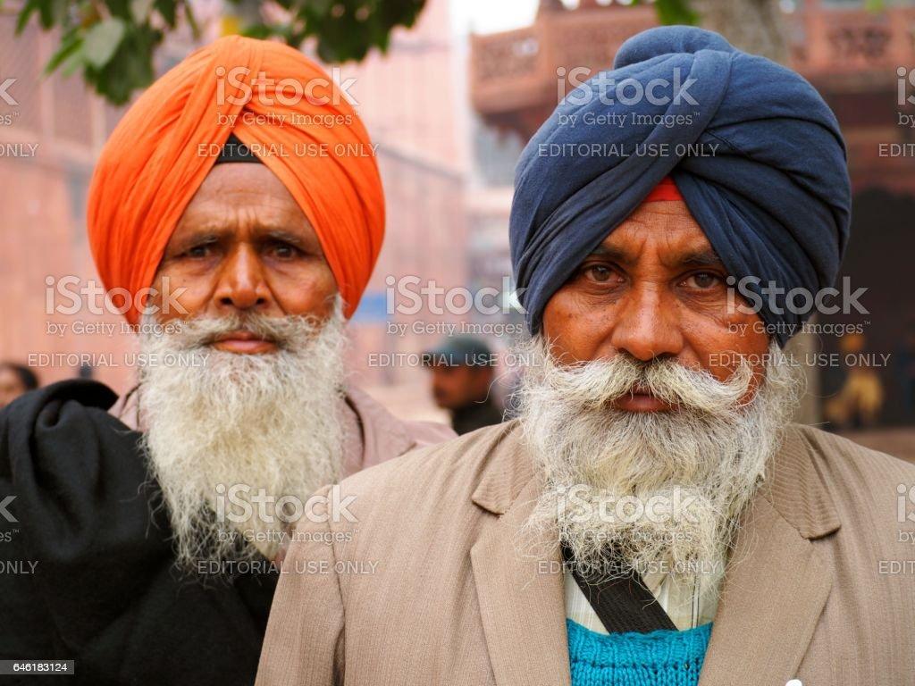 Sikh men with turban stock photo