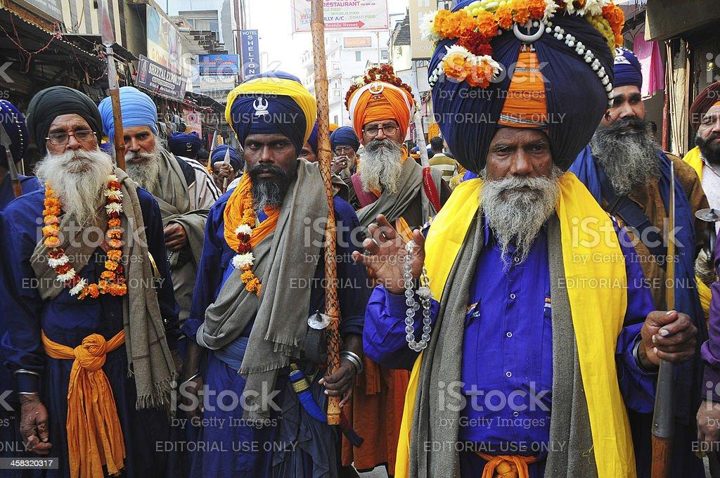 Sikh sadhu on the day of Akali Dal festival royalty-free stock photo