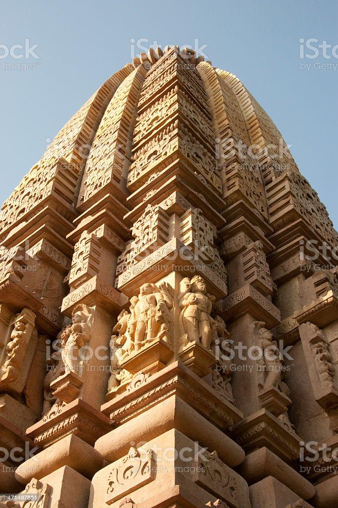 Sikhara of  Khajuraho Temple royalty-free stock photo