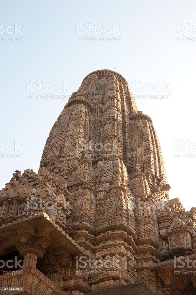 Sikhara of the Lakshmana Temple royalty-free stock photo