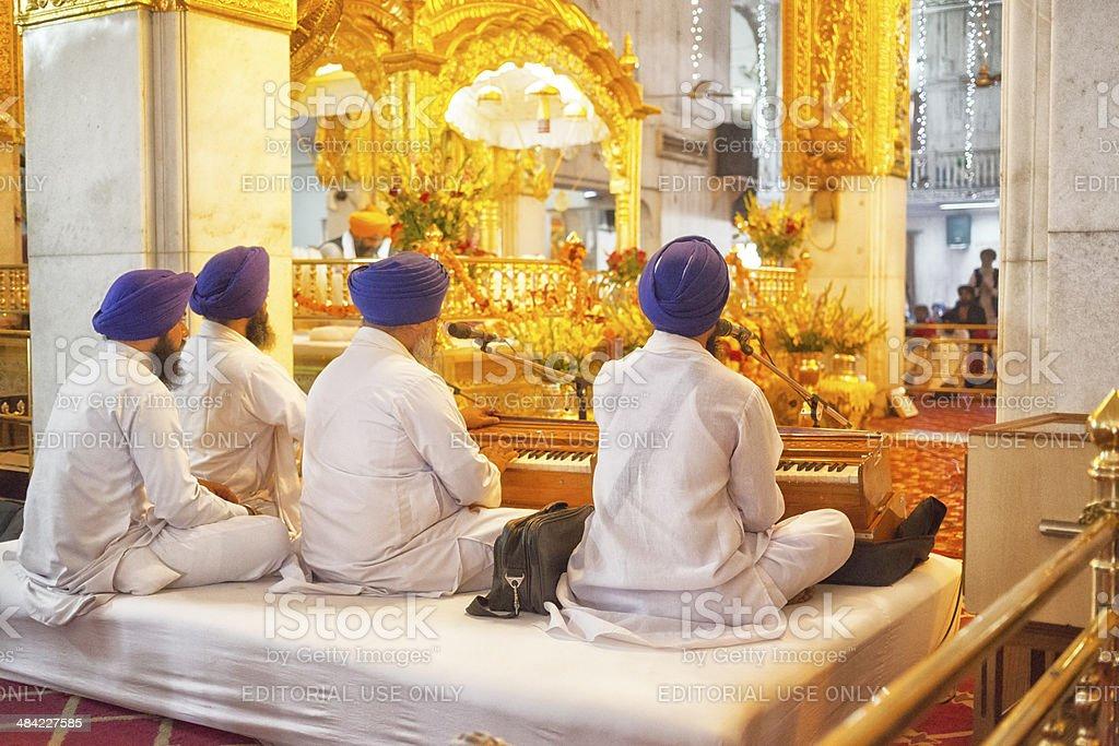 Sikhism, Gurudwara Bangla Sahib, Delhi, India stock photo