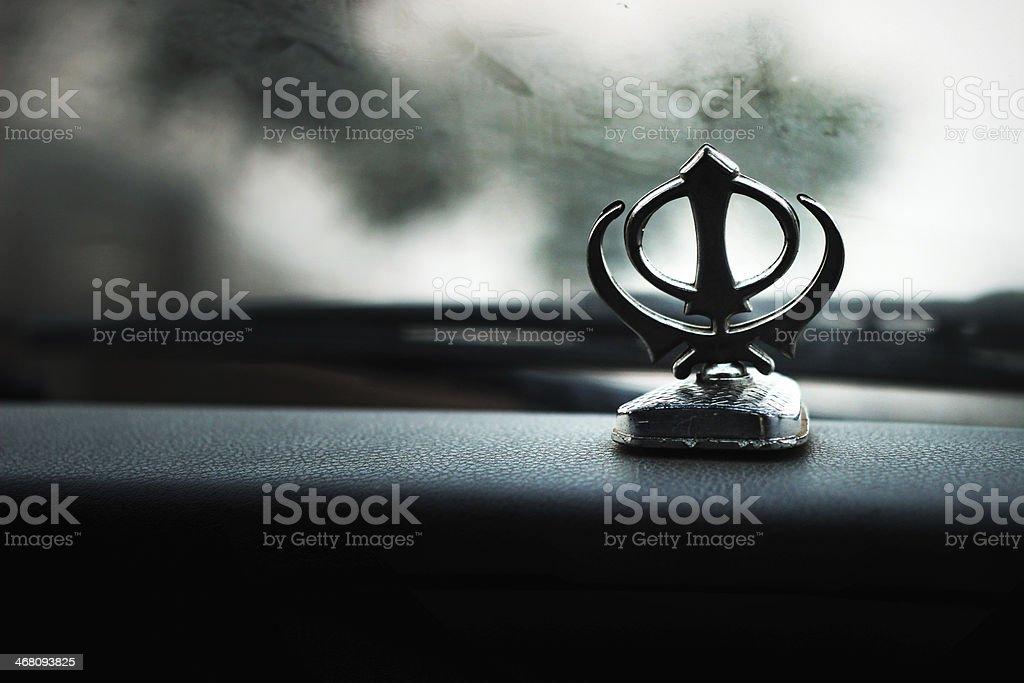 Sikhism Symbol - Khanda stock photo
