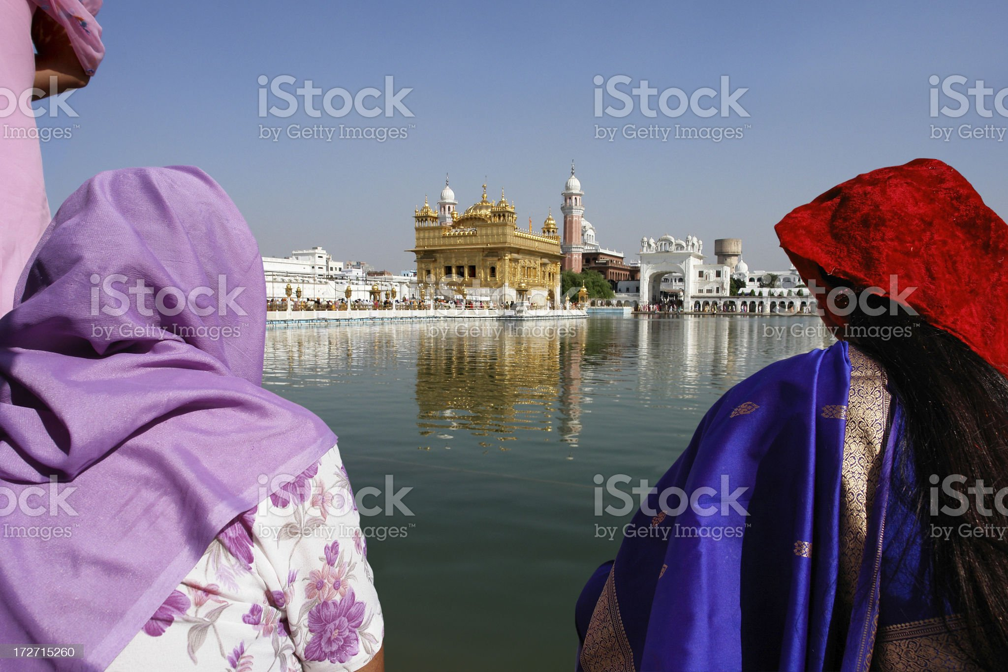 Sikh's Worshipers in Golden Temple royalty-free stock photo
