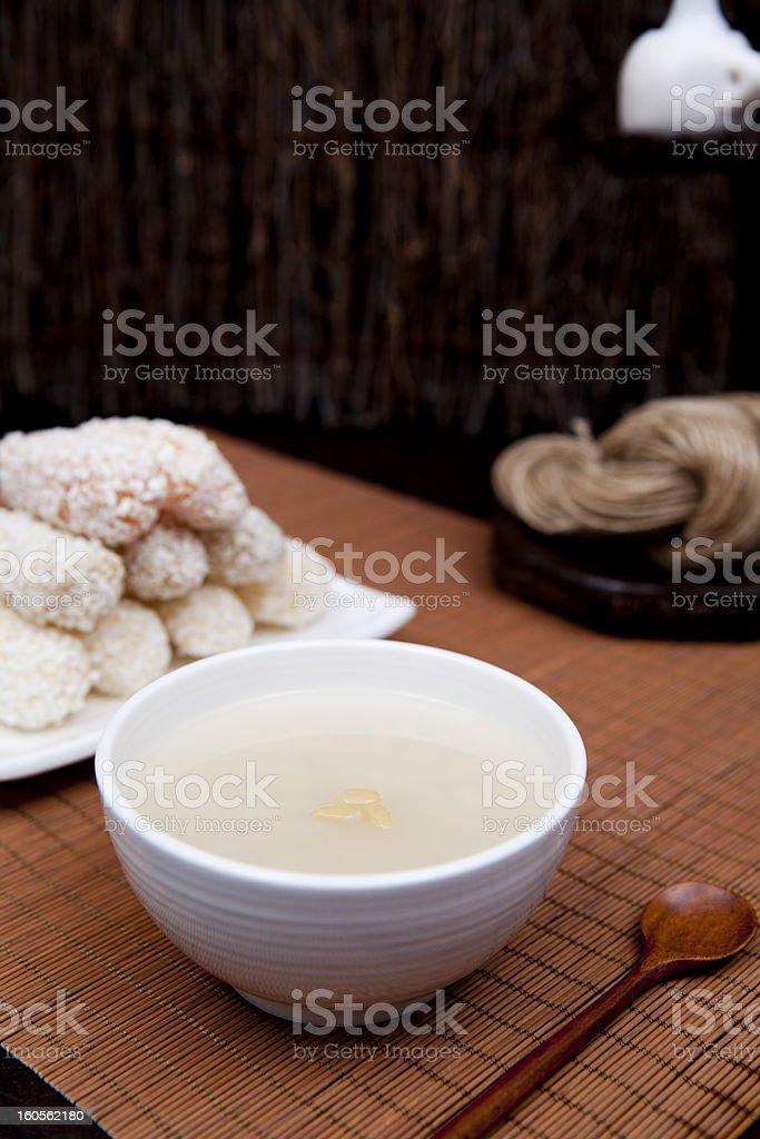 Sikhye, Korean Sweet Rice Drink royalty-free stock photo