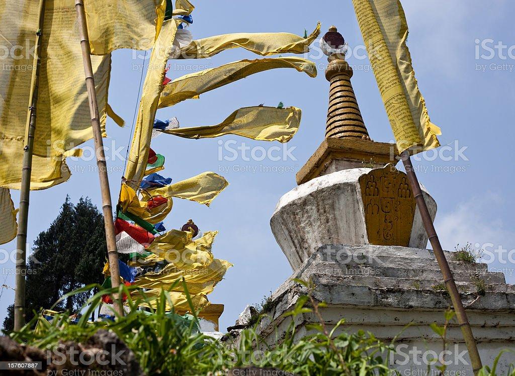 Sikkim, India Chorten royalty-free stock photo