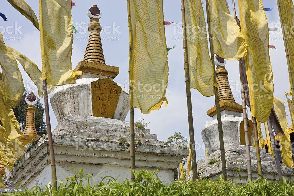 Sikkim, India Stupa royalty-free stock photo